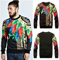 2014Autumn winter Versa men women's Camouflage chains leaves 3d print pullover GIV hip hop Brand Galaxy Sweatshirts Hoodies Tops