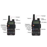 2pcs UV-5R 136-174/400-479.995MHz Dual-Band DTMF Baofeng FM ham 2 way 5R radio