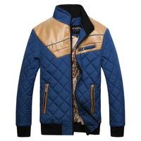 Delicate Design Man Thick Warm Coats Plus Size M-3XL Good Quality Leather Patchwork Men Winter Fashion Down Jackets