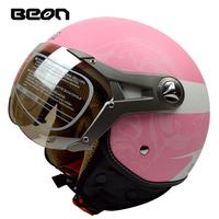 Free shipping!Fashion Beon Scooter open face helmet women's vintage motorcycle helmets men's Moto 3/4 capacete ECE B-100 helmet