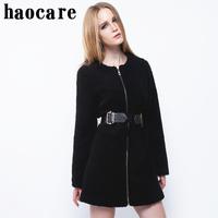 women winter luxury fur coat new 2014 fashion black thicken long slim women coat plus size 3XL lady warm jacket outwear DF14M001