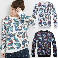 2014 spring autumn Versa Hip-hop style men women's Sea world fish 3d print pullovers GIV Brand Galaxy Sweatshirts Hoodies Tops