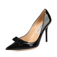 2014 new black pointed heels sexy shoes large size shoes