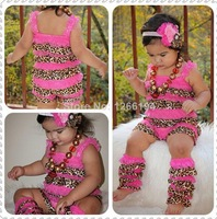 2014 Top Sale Red  Ruffle Romper And Leg Warmers  Cute Boutique Baby Girl  Outfit For Toddler Clothing Free Shipping