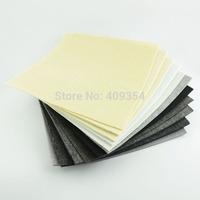 free shipping 11 PCS white black series 30CMX30CM  2MM 4MM 5MM thick Polyester felt fabric pack pre-cut nonwoven DIY Craft Cloth