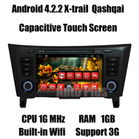 Android 4.2.2 Car GPS Navi for X-trail Qashqai Head Unit +CPU 1G Mhz +RAM 1GB + iNand flash 8GB +Built-in Wifi Free shipping