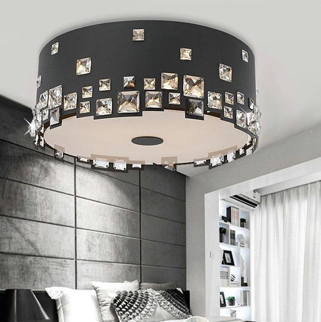free shipping Diameter 35*H22cm New arrival high quality crystal flush mount ceiling lights E14 3*40W 110V-220V(Chin
