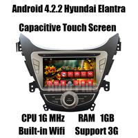Android 4.2.2 Car GPS Navi for Hyundai Elantra Avante I35 +CPU 1G Mhz +RAM 1GB + iNand flash 8GB +Built-in Wifi Free shipping