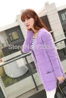 2014 South Korea brand new fashion pure Lady autumn/winter mohair long sweater cardigan women pullover knitting cardigan sweater