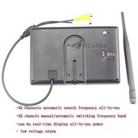 """32 Channels automatic search frequency all-in-one 7"""" LCD FPV Monitor with 4000 mw battery inside"""