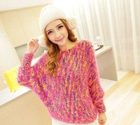 2014 South Korea New Fashion brand womens autumn/winter Round collar sweater mohair Knitting threads coats Lady pullover sweater