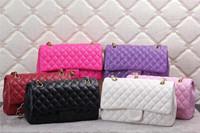 New Design Women Famous Brand Handbags,Le Boys Quilted Chain Shoulder Messenger bags Plaid Pattern Handbags 6 Colors