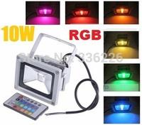 10pcs/lot 10W 20W 30W 50W 10w LED Floodlight Outdoor landscape LED Flood light lamp 85V-265V wash flood light + 24key IR Remot