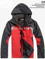 2014 free shipping Outdoor Jackets men genuine new outdoor waterproof windproof fleece piece triple mountaineering