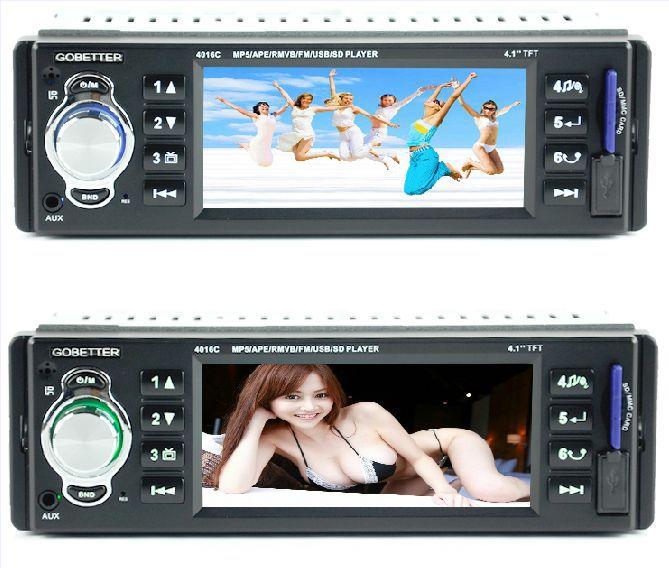 Hd 4 car mp5 card radio car usb flash drive player car cd machine dvd(China (Mainland))