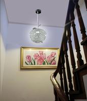 FRTEE Apple LED crystal Pendant Lights modern minimalist living room dining iron crystal pendant lamps bar lamp art