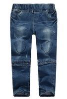 Girl's Fashionable Jeans Boy's Autumn Jeans 100% Cotton Denim Fabric, 6 Sizes/lot for 2-8 years - MW1022/MW1023/MW1024/MW1028