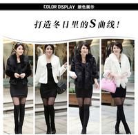 new 2014 free shipping  Artificial fur Fashion women fur coat faux short design winter fox fur mink fur