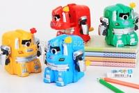 DELI pencil sharpener  robot cutting machine Transformers kids favorite pencil machine