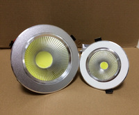 Free shipping COB led downlight 3W 5W 7W 9W 12W 15W ceiling down lamps living room background lights non-dimmable milk white