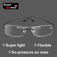 9 Frame Colors Hingless Non-screw Memory Titanium Metal Flexible Arm Eyeglasses Prescription Spectacles RX Glasses Optical Frame