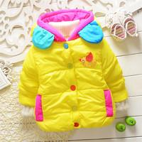 2014duck girls winter warm bird jacket kids girls outwear baby girls lovely animal ducky coats sweaters 2014 KT506R
