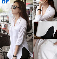 Blusas Femininas 2015 New Women Chiffon Blouse Slim Long Sleeve Shirts Women Tops Casual Plus Size Office Lady Shirts Blusas 880