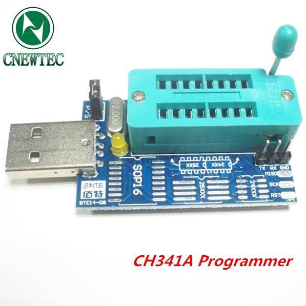 Free shipping Bios Board MX25L6405 W25Q64 USB Programmer LCD Burner CH341A Progammer for 24 25 Series(China (Mainland))