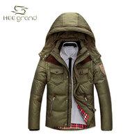 2015 New Arrival Men's Fashion White Duck Down Warm Coat Male Solid Casual Winter Wear Coat MWY088