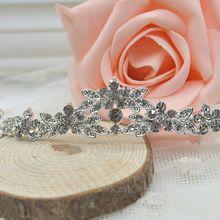 Hot Hot!!! Classic Sparkly Crystal Rhinestone Crown Tiara Wedding Prom Bride's Headband PMHM083