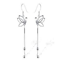 Fine jewelry 2014 NEW engagement earrings 100% Genuine 925 Sterling Pure Silver Butterfly Tassel Women earrings.TOP quality