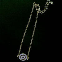 Fashion vintage blue evil eye charm bracelet  for women jewelry 2014 free shipping