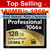 160MB/s Brand Lexar 1066x 128GB CompactFlash CF Memory Card For Canon Nikon DSLR Camera HD Camcorder 1080p 3D 4K DV Video Device