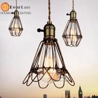 New Classical American Style Retro Pendant Lamp With E27 Edison Bulb Loft Vintage Pendant Light,Antique Pendant Lamps