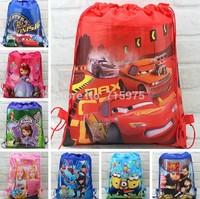 2014 New Arrival wonderful Cars-PLEX Kids Cartoon Drawstring bag School Backpack Children Printing bags,children school bags