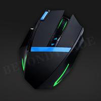 ET Brand X-09 2.4G Wireless Gaming Mouse 2400 CPI Ergonomic Design Mouse Gamer Glaring LED Light  Avago Engine 6D For Dota 2