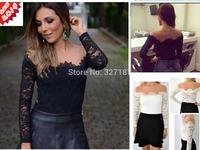 blusas femininas 2014 white black casual lace blouse women chiffon blouse atacado roupas femininas top for women shirt camisas