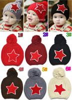 Free shipping 1piece fashion knitted Baby Kids Skullies Winter warm Boy/girls cap+Age 1~5 years, Beanies children Hat