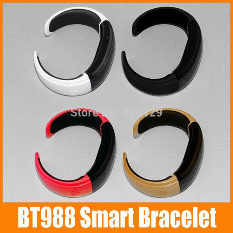 10 piece BT988 Smartwatch Smart Alert Bluetooth 3.0 Bracelet Buzz Alarm Call For Iphone for HTC Smartphones Wristwatch(China (Mainland))