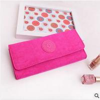2014 new fashion card holder women nylon hasp long purses wallet clutch free shipping