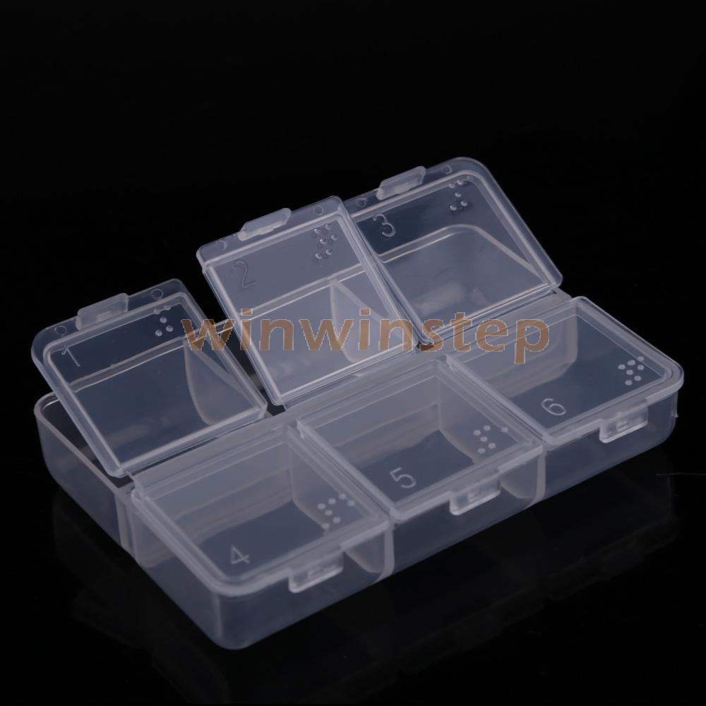 BS#S New Mini Portable Empty Braille 6 Cells Pill Medicine Drug Storage Case Box(China (Mainland))
