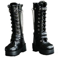 [wamami] 45# Black 1/3 SD DZ DOD BJD Dollfie Leather Boots/Shoes