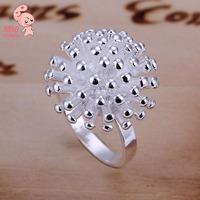 New Hotsale 925 Sterling Silver  Fashion Jewelry  Shining  Fireworks Ring  For Women KUNIU001