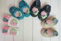 Hot Sale peppa pig Genuine Leather Lovely Baby Prewalker Soft Sole Infant  toddler shoes 0-24M Learning Walk Shoes