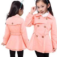 Girl's Fashion jackets Girls Outerwear&Coats Blazer Trench Spring Autumn Girls Hoodies Jackets, Baby Raincoat Children's Coat