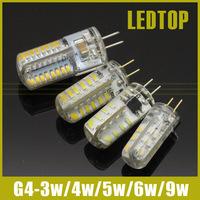 G4 SMD 3014 3W 4W 5W 6W 9W Crystal lamp light DC 12V / AC 220V Silicone LED Bulb Chandelier 24LED 32LED 48LED 64LEDs 104leds