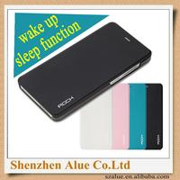 Original Rock XIAOMI MI4 M4 Smart Mobile Phone cover case wake up/sleep flip case