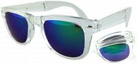 New Arrival Folding Sunglasses Men Wayfarer oculos de sol Revo Coating Mirror Lens UV400 Protection Cycling Glasses ESCC024