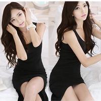 Womens Sexy High Low Swallow Tail Irregular Hem Long Vest Maxi Dress Free Shipping and Drop Shipping