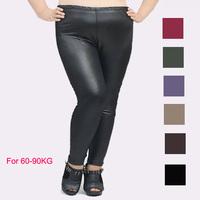 1pcs 2015 new free shipping Large yard leather pants fashion leggings fat women king size sexy pantyhose 90KG